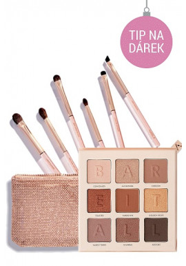 Combo Nabla Denude Eye Brush Set + BarryM Bare It All Palette