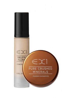 EX1 Delete Fluid Concealer + Pure Crushed Mineral Foundation