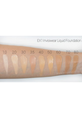EX1 Invisiwear Liquid Foundation Duo Swatch