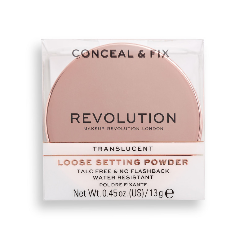 Makeup Revolution Conceal & Fix Setting Powder 13g-TRANSLUCENT