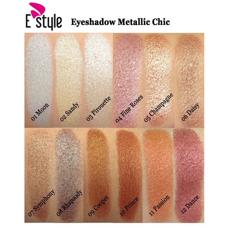 E Style EYESHADOW METALLIC CHIC-08 RHAPSODY